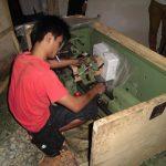 Proses Pengepakan Mesin Korter, Poles dan Bubut di Bengkel NBS Jogja Untuk Dikirim Ke Luar Jawa