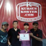 Lulus dari kursuskorter.com Mas Dana siap mengembangkan usaha bengkel Korter di Lombok